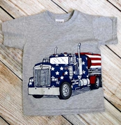 Mulberribush Boys Patriotic Truck T-Shirt
