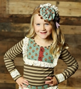 Mustard Pie Girls Sandy Aqua Molly Top