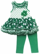 Rare Editions Girls St. Patrick's Day Tutu Set - Shamrock