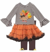 Girls Turkey Tutu and Legging Set