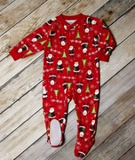 Sara's Prints One-Piece Footed Holiday Pajamas � Santa