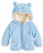 Widgeon Boys Plush Hooded Jacket � Blue Ears