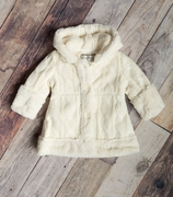 Widgeon Girls Cable Knit Sweater Coat � Ivory