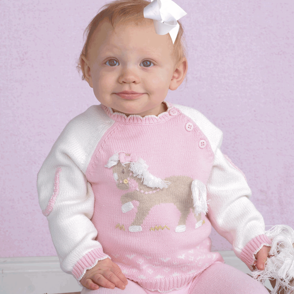 Zubels Girls Cotton Sweater - Little pony