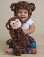 Monkey Plush Hat or Doll