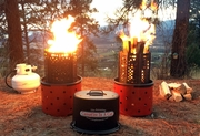3-In-1 Campfire Propane, Wood & Charcoal
