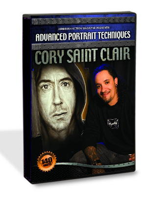... Portrait Techniques with CORY SAINT CLAIR DVD from Airbrush Action