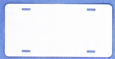 Aluminum Licence Plate - White