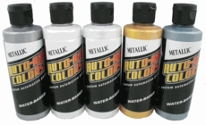 Auto-Air Colors 4300 Series Metallic 4oz Color Set