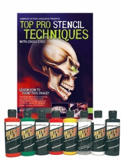 Auto-Air Top Pro Stencil DVD and Color Set