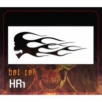 CAS Professional Airbrush Stencil - HR1 'Hot Rod Skull'