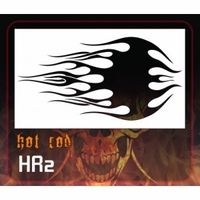 CAS Professional Airbrush Stencil - HR2 'Old Skool Flames'