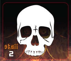 CAS Professional Airbrush Stencil - Skull 2 - 'Jawless Frontal'