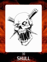 CAS Professional Airbrush Stencil - Skull 30 - 'High Stakes'