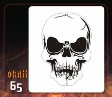 CAS Professional Airbrush Stencil - Skull 65 - 'Wide Eyed Dead Guy'