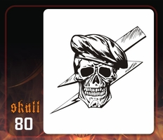 CAS Professional Airbrush Stencil - Skull 80 - 'Special Forces'