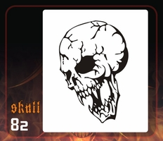CAS Professional Airbrush Stencil - Skull 82 - 'Fractures'