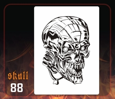 CAS Professional Airbrush Stencil - Skull 88 - 'The Living'