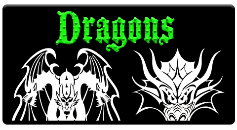 "CAS Professional Airbrush Stencils-<big><font color=""Green""> Dragon Series</font>"