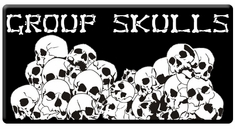 "CAS Professional Airbrush Stencils - <big><font color=""00FF00""> Group Skull Series</font>"