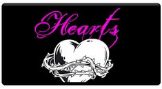 "CAS Professional Airbrush Stencils - <big><font color=""red"">Hearts Series</font>"