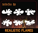 "CAS Professional Airbrush Stencils <big><font color=""red""> Hell's Fire Series</font>"