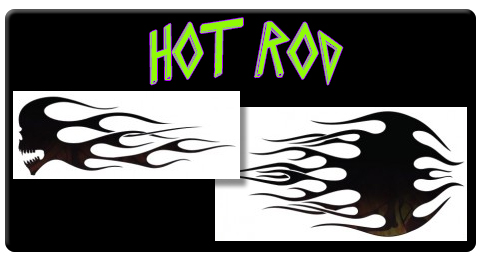 CAS Professional Airbrush Stencils - <br><big><font color=green> Hot Rod Series</font>
