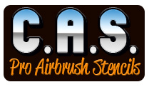 C.A.S. Professional Airbrush Stencils - New Designs!
