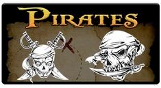 "CAS Professional Airbrush Stencils - <big><font color=""yellow"">Pirate Series</font>"