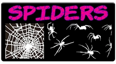 "CAS Professional Airbrush Stencils - <big><font color=""red"">Spider Series</font>"