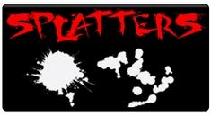 "CAS Professional Airbrush Stencils - <big><font color=""red"">Splatter Series</font>"
