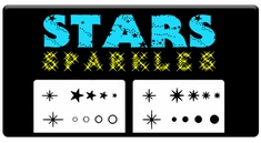 "CAS Professional Airbrush Stencils - <big><font color=""337799"">Stars and Sparkles</font>"