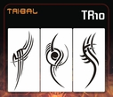 "CAS Professional Airbrush Stencils - <big><font color=""black"">Tribal Series</font>"
