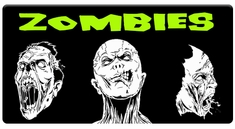 CAS Professional Airbrush Stencils - Zombie Series