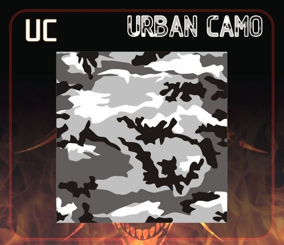 CAS Professional Multi-Layer Airbrush Stencil - UC - URBAN CAMO