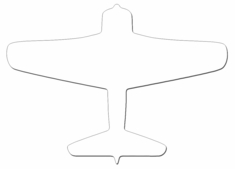 "Custom Cuts Aluminum Panel - Airplane 15"" x 11"""