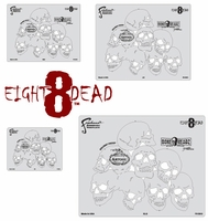 Eight8Dead FHBH3 Boneheadz Stencil Multi-Set by Mike Lavallee