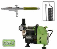 Grex Combo Kit with XD Airbrush & AC1810 Compressor