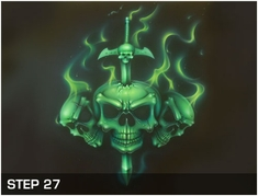 Harder Steenbeck 'Flaming Skull' Stencils with Step by Step Instructions
