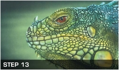 Harder Steenbeck 'Iguana Wildlife' Stencils with Step by Step Instructions