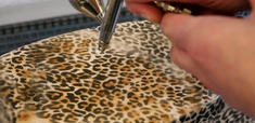 Harder Steenbeck 'Leopard' Stencil with Step by Step Instructions