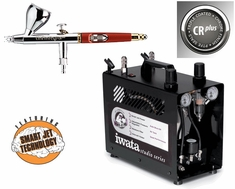 Infinity 2 in 1 Airbrush CRplus with Iwata Power Jet Pro Compressor & Hose