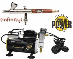 Infinity Solo Airbrush with Iwata Smart Jet Compressor & Hose