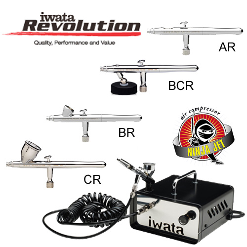Iwata Revolution Airbrush with Ninja Jet Compressor