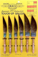Mack Series 20 Sword Striper Pinstriping & Touch-Up Brushes