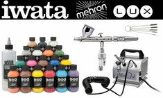 Mehron Lux Pro Kit with Iwata Eclipse CS Airbrush & Silver Jet Compressor