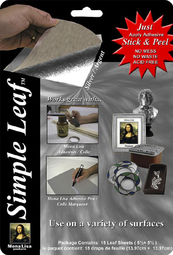 MONA LISA Simple Leaf - Silver 5½ ×5½  (18 Leaf Sheets)^