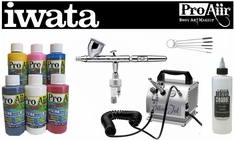 ProAiir Hybrid Intro Kit with Iwata Eclipse CS Airbrush & Silver Jet Compressor