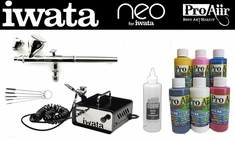 ProAiir Hybrid Intro Kit with Iwata Neo CN Airbrush & Ninja Jet Compressor