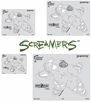 Screamers FHBH2 Boneheadz Stencil Multi-Set by Mike Lavallee